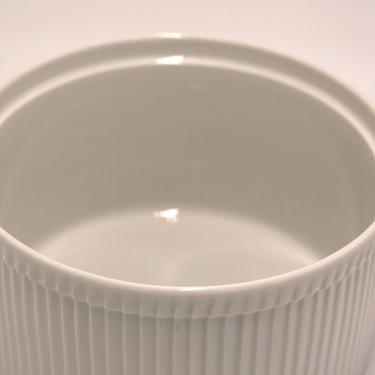 vintage Apilco white porcelain souffle dish/made in France by suesuegonzalas