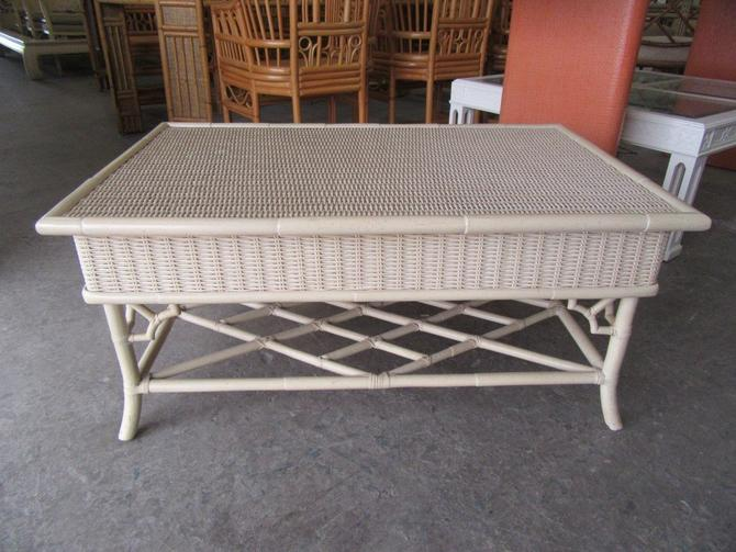 Wicker Chippendale Coffee Table