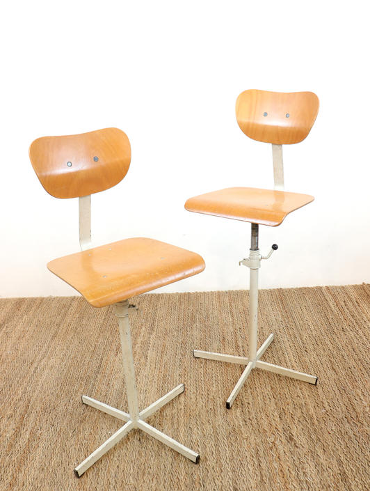 Mid Century Artist Stools | Set of 4