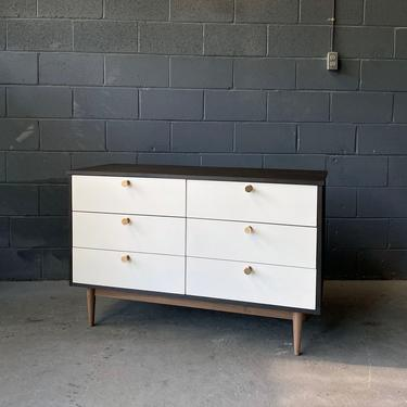 6 Drawer Walnut Dresser in Two-Toned / Mid Century Style by MarthaLeoneDesign