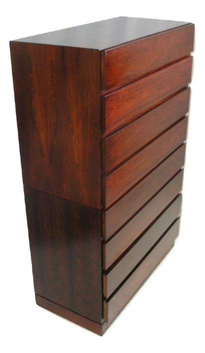 "36"" Wide Tallboy Brazilian Rosewood Dresser By Arne Wahl Iversen for Vinde Storage Chest MCM Mid Century Eames by RetroSquad"