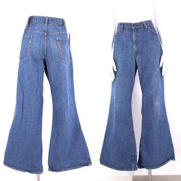 70s 80s LEVIS 517 Orange Tab high waist bell bottom jeans 36 / vintage 1970s 1980s vintage Levis flares pants 36 x 30 by ritualvintage