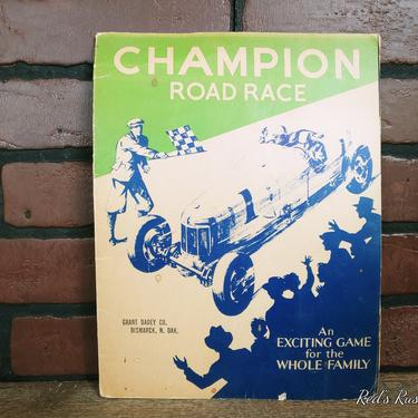 Champion Road Race Game Champion Spare Plug Company by RedsRustyRelics