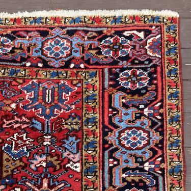 Vintage Rug 7' 2 x 10' 7 Red Farmhouse Rug by JessiesOrientalRugs