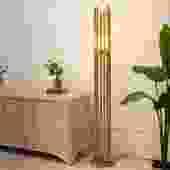 1970's Style Brass Floor Lamp