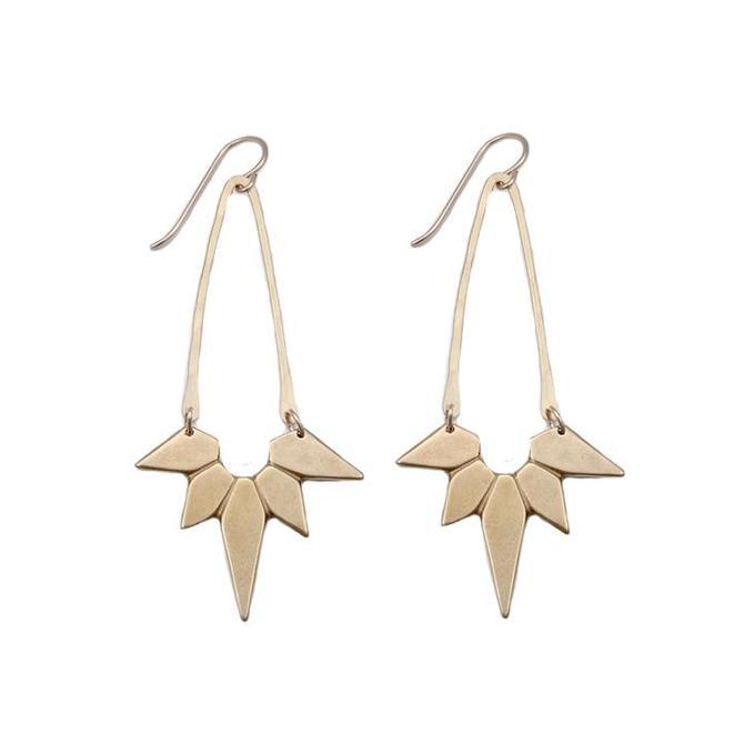 Nova Earrings - Brass