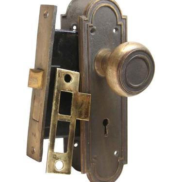 Antique Bronze Concentric Entry Door Knob Set
