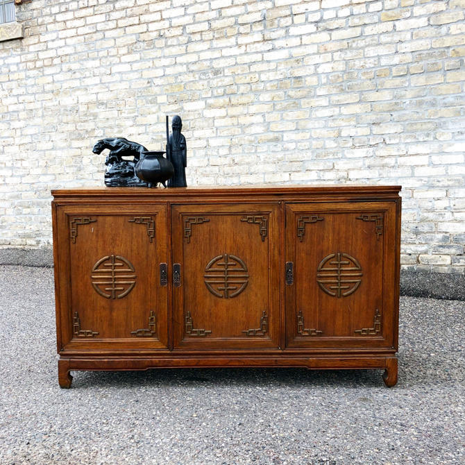 Asian Styled Triple Credenza-sideboard