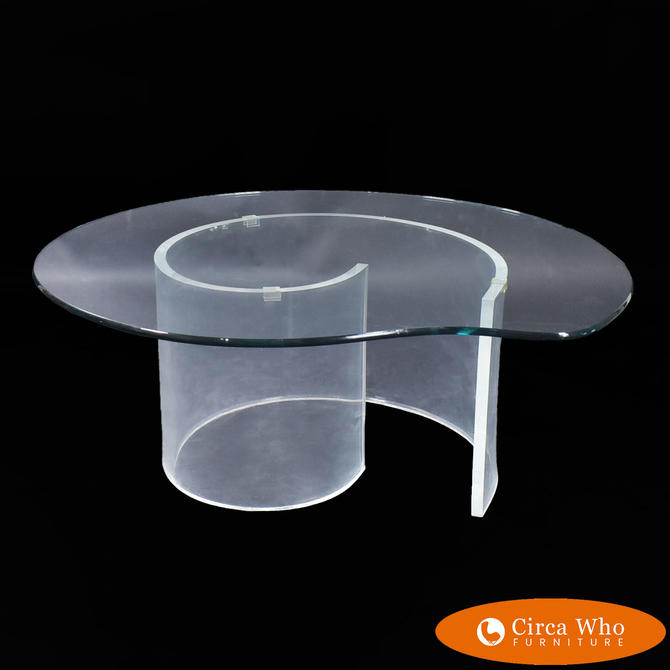 Lucite Snail Coffee Table