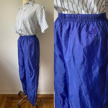 80s Nike Windbreaker Pants by DiscoLaundryVintage
