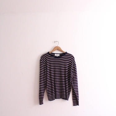 Dark Striped 80s Slouchy Sweater by LooseGoods