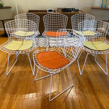 Set of 6 Authentic Knoll Harry Bertoia Side Chairs with Original Pad Midcentury Modern by MSGEngineering