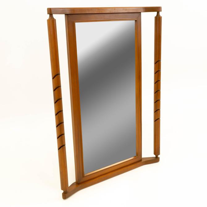 Basic Witz Mid Century Modern Walnut Mirror