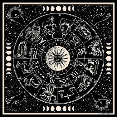 Silk Astrology Scarf