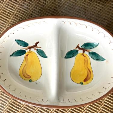 Stangl Fruit Pear Divided Bowl by RavenPearVintage