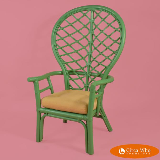 High-back Fretwork Arm Chair