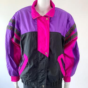 Purple & Pink 90's Track Jacket w/ Southwest Ribbon