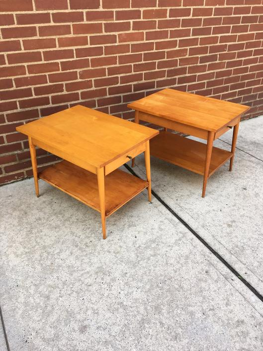 Pair of Paul McCobb Planner Group End Tables  Mid Century Modern by bcdrygoods