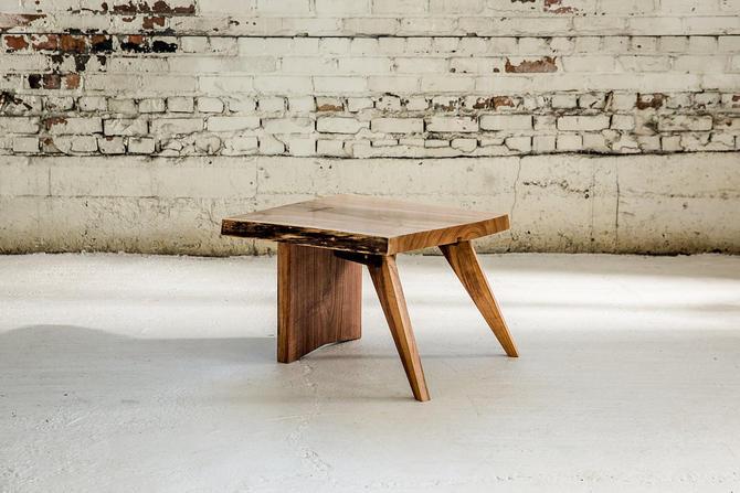 Nakashima End Table | Black Walnut Live Edge Side Table | Scandinavian Style Nightstand by StocktonHeritage