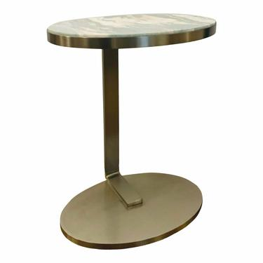 Caracole Modern Green Marble High Tide Side Table