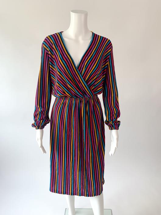 1970's Striped Terry Disco Dress