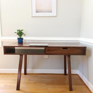 Writing Desk - Clean, Minimalist Midcentury Design by AvocationHardwoods