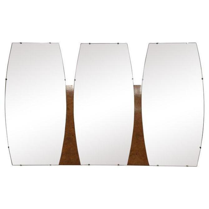 Mid-Century Triple Mirror by mixedmodern1