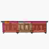 Chinese Distressed Red Flower Graphic TV Console Credenza Cabinet cs4919S