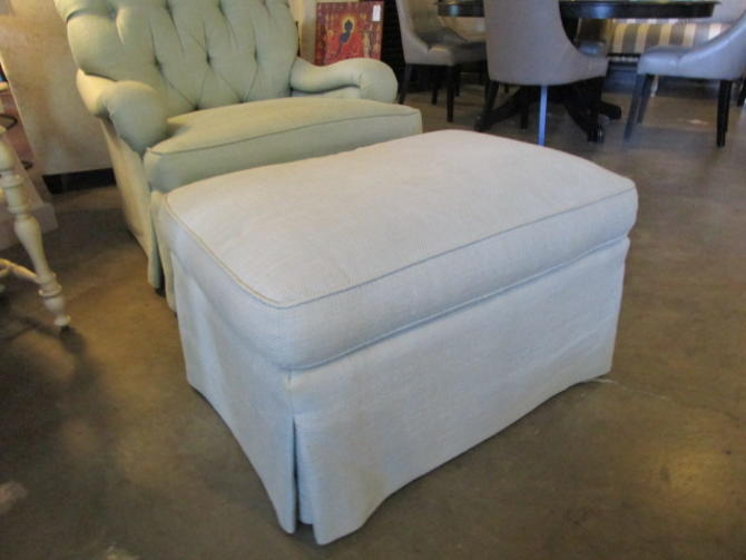 PAIR PRICED SEPARATELY EDWARD FERRELL OTTOMANS FOR CLUB CHAIRS