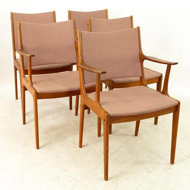 Johannes Andersen Mid Century Teak Dining Chairs - Set of 5 - mcm by ModernHill