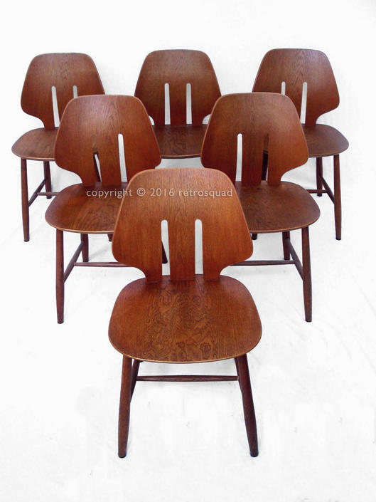 6 Danish Modern Dining Chairs by Ejvind A. Johansson / FDB, Mogensen Wagner MCM