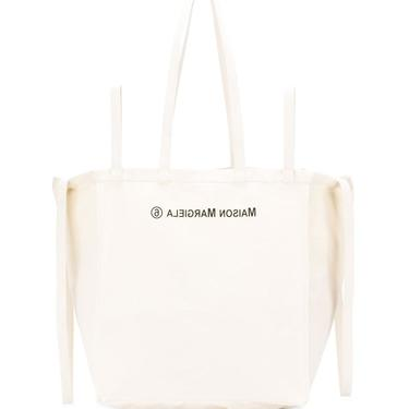 MM6 XL natural canvas tote