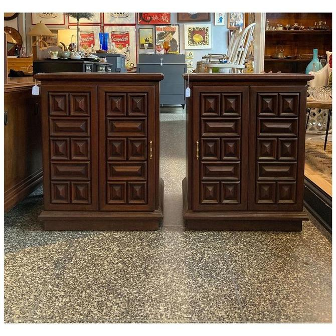 "1970's cabinets / nightstands 25.5"" wide / 24"" deep / 32"" tall"