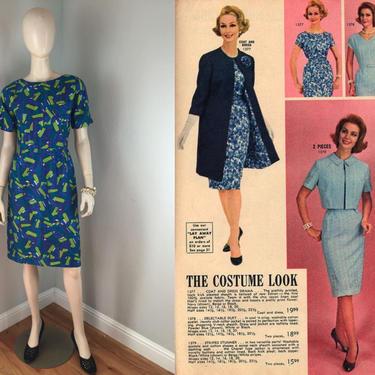 Costume Looks - Vintage 1950s 1960s Marcy Allen Blue & Lime Green Geometric Dress - 6/8 by RoadsLessTravelled2
