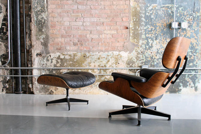 Early Rosewood 1960's 670-671 Lounge Chair by Eames for Herman Miller