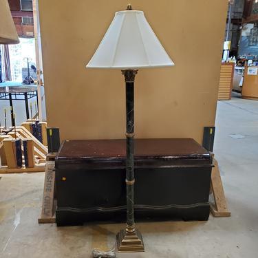 Marble and Bronze Floor Lamp