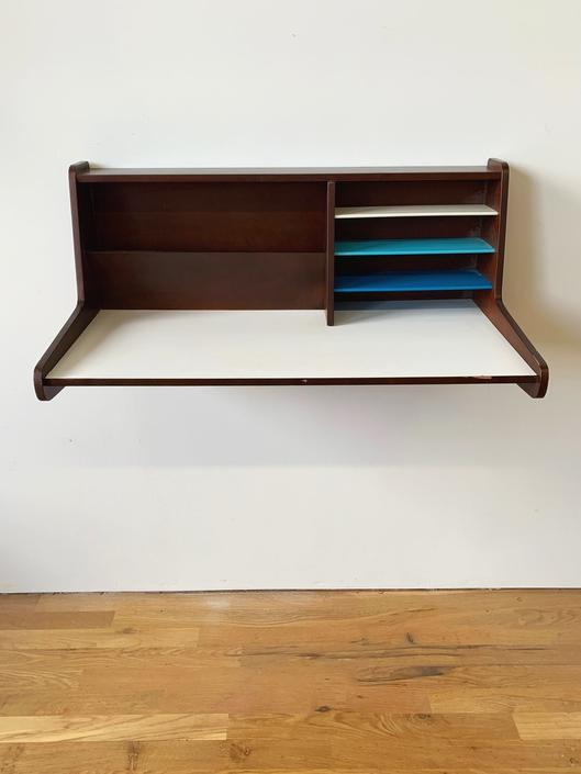 Mid Century Wall Mounted Floating Desk