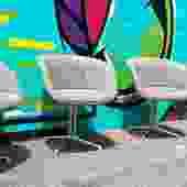 Rare Set Of Grey Eames La Fonda Chairs