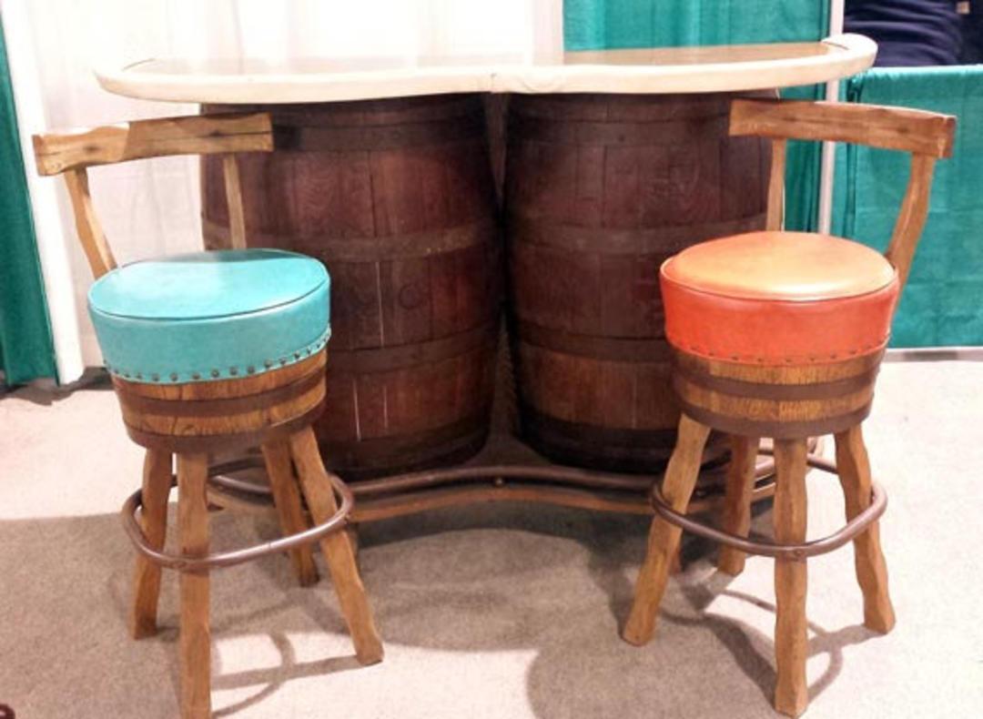 Sale Vintage Whiskey Barrel Bar Vintage Barrel Bar