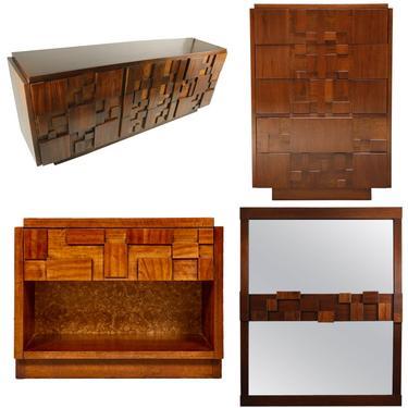 Brutalist Mosaic Bedroom Set (5 pieces) by Lane