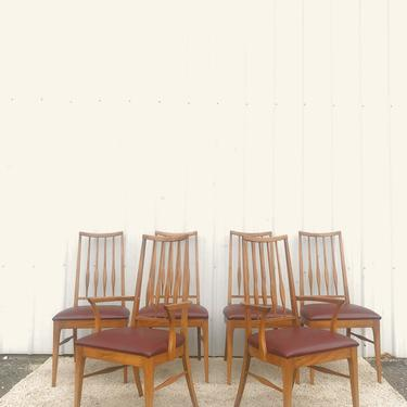 Set of 6 Mid Century Dining Chairs by Keller