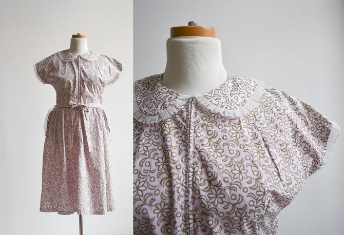 1950s Pink Cotton Shirt Dress by milkandice