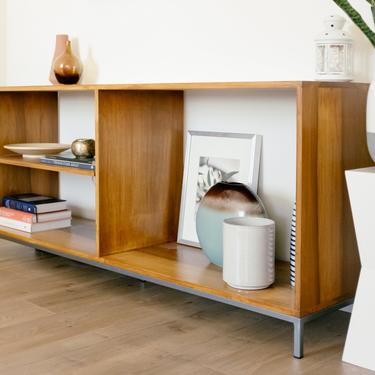 Industrial Bookcase Media Console by abdobuilds