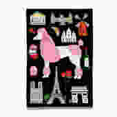 Bonjour French Poodle Tea Towel