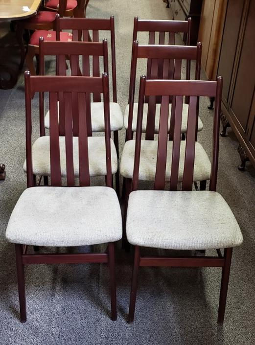 Item #S2009 Set of Six Danish Modern Dining Chairs by Farstrup