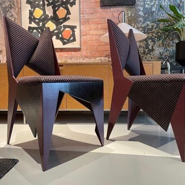 Set of 6 Artist made dining chairs from 1986 by Naomi Vogelfanger