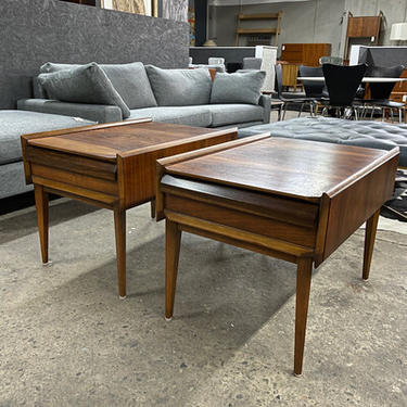 Lane First Edition Walnut and Pecan End Tables