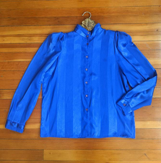 Vintage Blue Blouse by BTvintageclothes