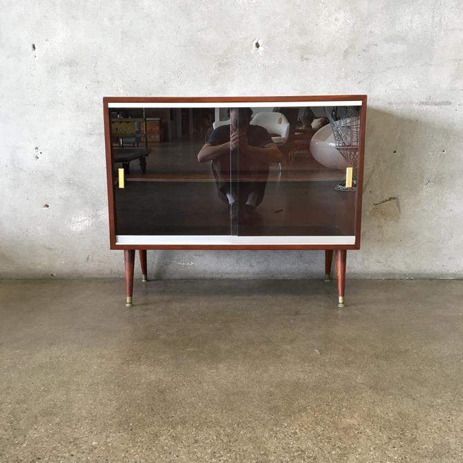 Vintage Mid Century Glass Front Cabinet