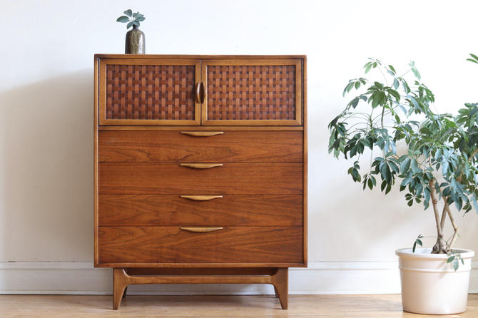 Mid Century Modern Lane Perception Highboy Dresser by SharkGravy